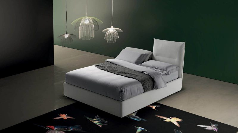 "Sharp Exclusive collection, strictly ""made in Italy"", upholstered beds, designed and produced to ensure a healthy sleep."