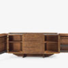 PANDORA Multifunctional sideboard in blockboard, also available with iron or hide leather