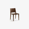 Voltri Chair entirely made of solid wood, similar to the Piano Design Chair but with lowered back and wider seat.