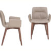 Alexia A comfortable padding for those who love absolute comfort. Chair and armchair with metal or wood base to customize with all our covering finishes.