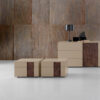 INSIDE The Inside night stands and dresser are distinguished by the characteristic insert which can be in a different finish