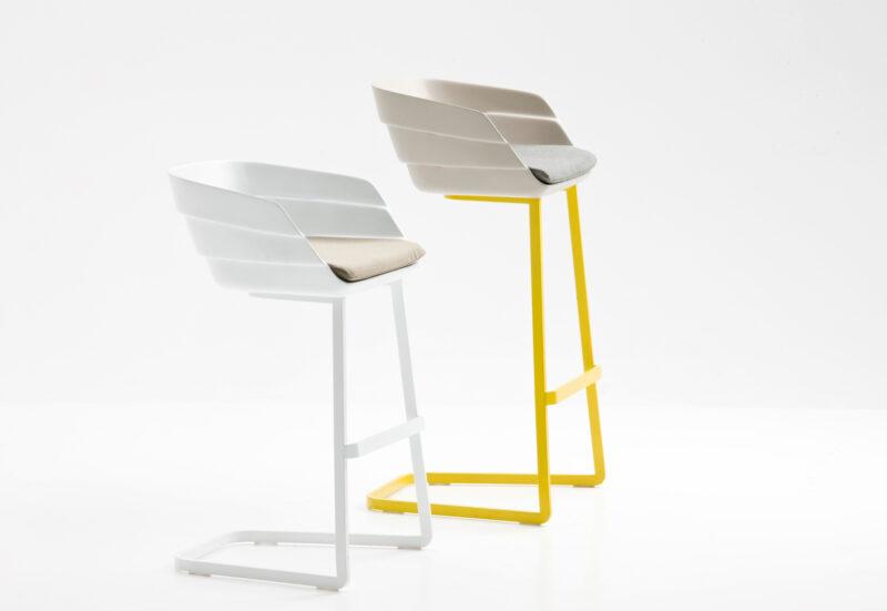 RIFT Seat is polypropylene; cantilever base is square tubular steel with powder coat finish.